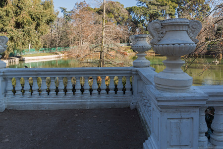 MADRID, SPAIN - JANUARY 22, 2018: Crystal Palace in The Retiro Park  in City of Madrid, Spain