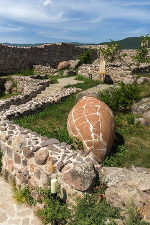 Ruins of Ancient Byzantine fortress The Peristera in town of Peshtera, Pazardzhik Region, Bulgaria