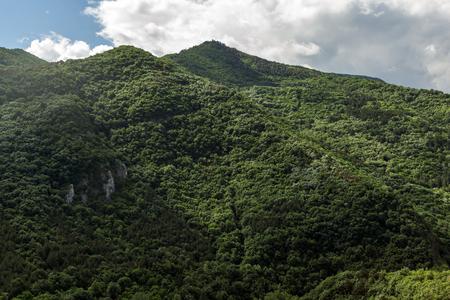Amazing landscape of Green Hills near town Asenovgrad in Rhodope Mountains, Plovdiv region, Bulgaria 版權商用圖片 - 101866127