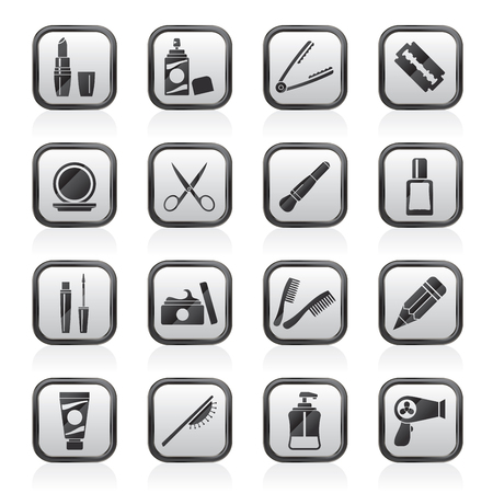 beauty and cosmetics icons - vector icon set Illustration