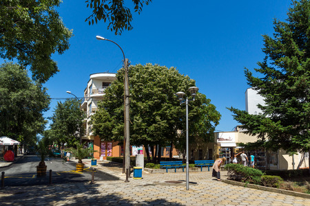 AHTOPOL, BULGARIA - JUNE 30, 2013: Center of town of Ahtopol,  Burgas Region, Bulgaria