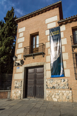 MADRID, SPAIN - JANUARY 23, 2018: Facade of typical Buildings in City of Madrid, Spain