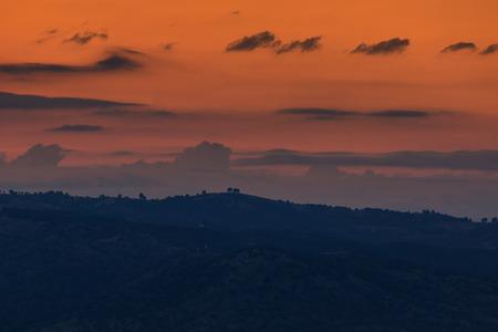 Amazing Sunset Panorama of  Ograzhden Mountain, Blagoevgrad Region, Bulgaria