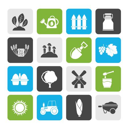 農業と農業アイコン - ベクトルアイコンセット