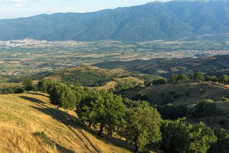 Sunset Landscape of Ograzhden Mountain, Blagoevgrad Region, Bulgaria