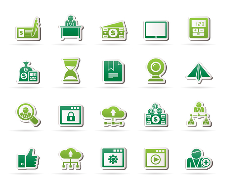 Business and office equipment icons - vector icon set 3