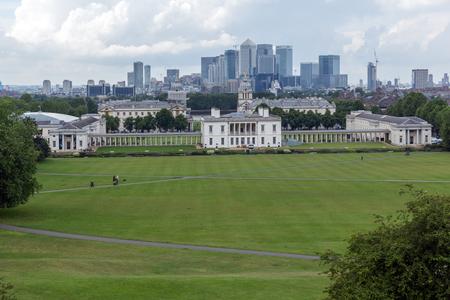 LONDON, ENGLAND - JUNE 17, 2016: Amazing Panorama from Greenwich, London, England, United Kingdom
