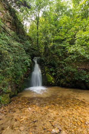 Landscape of First Gabrovo waterfall cascade in Belasica Mountain, Novo Selo, Republic of Macedonia Stock Photo