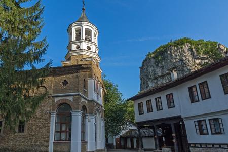 Buildings of the nineteenth century in Dryanovo Monastery St. Archangel Michael, Gabrovo region, Bulgaria Stok Fotoğraf