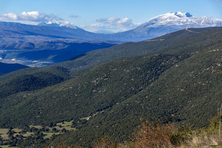 Erstaunliche Winterlandschaft Pindus Berg, Epirus, Griechenland