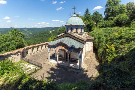 Nineteenth century buildings in Sokolski Monastery Holy Mother's Assumption, Gabrovo region, Bulgaria