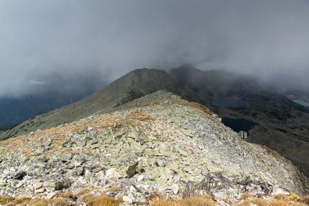Amazing panoramic view from Musala peak, Rila mountain, Bulgaria