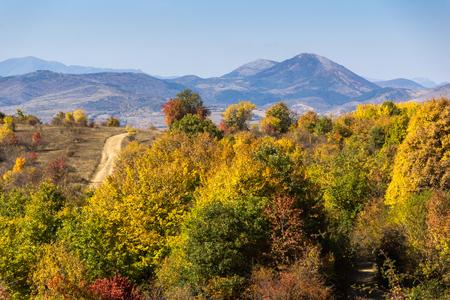 Amazing Autumn landscape of Cherna Gora (Monte Negro) mountain, Pernik Region, Bulgaria