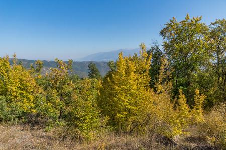 Autumn landscape of Ruen Mountain - northern part of Vlahina Mountain, Kyustendil Region, Bulgaria Stock Photo