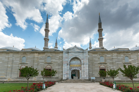Architectural detail of Built by architect Mimar Sinan between 1569 and 1575 Selimiye Mosque  in city of Edirne,  East Thrace, Turkey Stock Photo