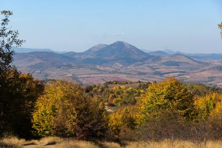 Amazing Autumn Panorama of Cherna Gora (Monte Negro) mountain, Pernik Region, Bulgaria