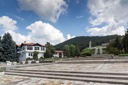 KALOFER, BULGARIA - AUGUST 5, 2018: Old traditional Bulgarian school in historic town of Kalofer, Plovdiv Region, Bulgaria Editorial
