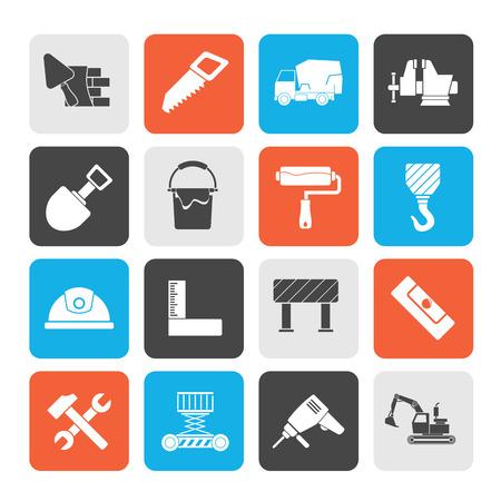 Icônes d'outils de construction et de construction - jeu d'icônes vectorielles