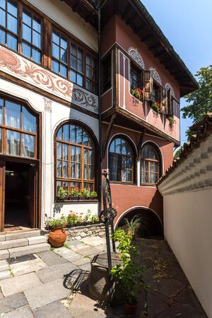 PLOVDIV, BULGARIA - JULY 5, 2018:  Museum Balabanov's House in architectural and historical reserve The old town in city of Plovdiv, Bulgaria Redakční