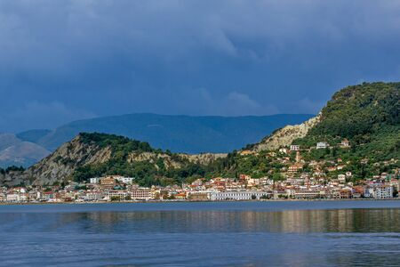 ZAKYNTHOS, GREECE - MAY 28, 2015: Amazing Panoramic view of Zakynthos City, Ionian island, Greece