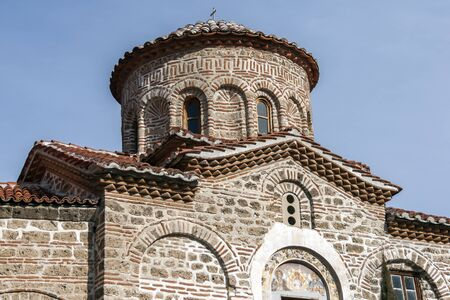 BACHKOVO MONASTERY, BULGARIA - FEBRUARY 4, 2019: Buildings in Medieval Bachkovo Monastery Dormition of the Mother of God, Bulgaria 스톡 콘텐츠 - 129378851