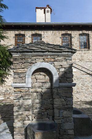 BACHKOVO MONASTERY, BULGARIA - FEBRUARY 4, 2019: Buildings in Medieval Bachkovo Monastery Dormition of the Mother of God, Bulgaria 스톡 콘텐츠 - 129378860