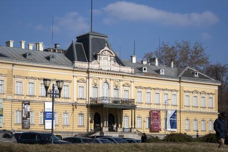 SOFIA, BULGARIA - FEBRUARY 21, 2019: Building of National Art Gallery (Royal Palace), Sofia, Bulgaria