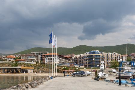 SVETI VLAS, BULGARIA - MAY 2, 2008: Panoramic view of famous summer resort Sveti Vlas (Saint Vlas), Burgas Region, Bulgaria