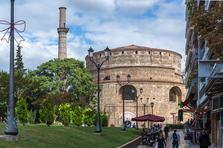 THESSALONIKI, GREECE - SEPTEMBER 30, 2017: Rotunda Roman Temple in the center of city of Thessaloniki, Central Macedonia, Greece