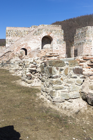 Remnants of Ancient Roman fortress The Trajan's Gate, Sofia Region, Bulgaria 版權商用圖片