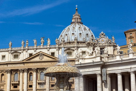 VATICAN CITY - JUNE 23, 2017: St. Peter's Basilica at Saint Peter's Square in city of Rome, Vatican, Italy
