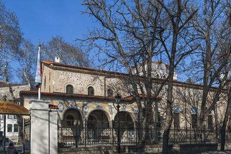 PLOVDIV, BULGARIA - FEBRUARY 10, 2019:  Cathedral church of the Holy Martyrs Marina (Margaret the Virgin) in city of Plovdiv, Bulgaria