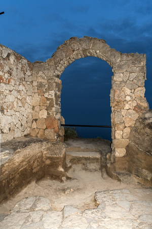 Sunset view of Ruins of fortress at Kaliakra Cape at Black Sea Coast, Dobrich Region, Bulgaria