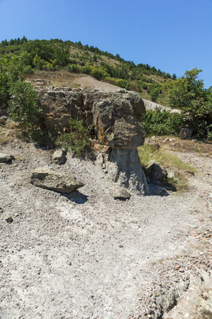 Rock formation The Stone Dolls of Kuklica near town of Kratovo, Republic of North Macedonia