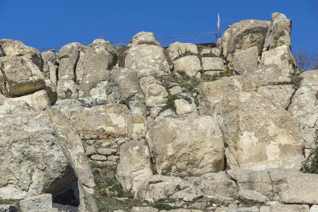 Ruins of Ancient Thracian city of Perperikon, Kardzhali Region, Bulgaria Stock Photo