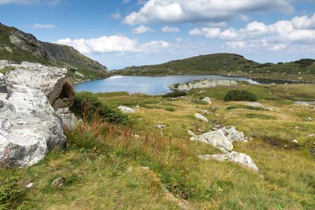Amazing landscape with The Trefoil lake at The Seven Rila Lakes, Rila Mountain, Bulgaria