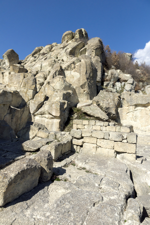 Ruins of Ancient Thracian city of Perperikon, Kardzhali Region, Bulgaria 免版税图像