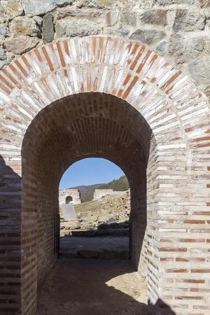 Ruins of Ancient Roman fortress The Trajans Gate, Sofia Region, Bulgaria