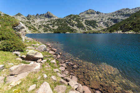 Amazing Landscape with  Valyavishko Lake, Pirin Mountain, Bulgaria