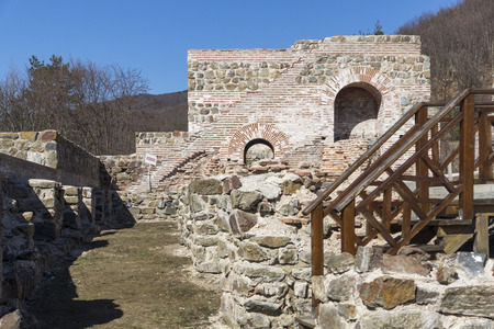 Remnants of Antique Roman fortress The Trajan's Gate, Sofia Region, Bulgaria