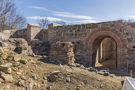 Remnants of Antique Roman fortress The Trajan's Gate, Sofia Region, Bulgaria