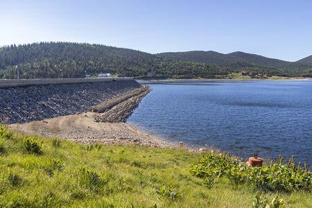 Summer landscape with Belmeken Dam, Rila mountain, Bulgaria