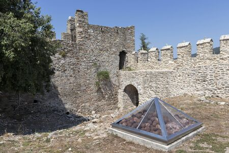 Panorama of Fortress in city of Kavala, East Macedonia and Thrace, Greece