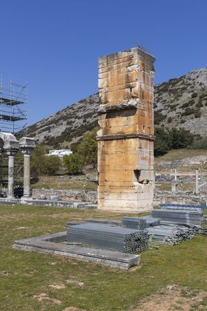 Basilica in the archeological area of ancient Philippi, Eastern Macedonia and Thrace, Greece 写真素材 - 129436641