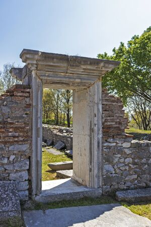 Basilica in the archeological area of ancient Philippi, Eastern Macedonia and Thrace, Greece 写真素材 - 129436645