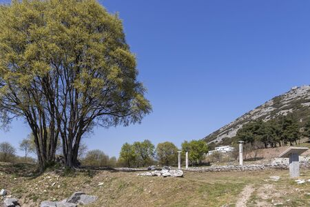 Ancient Ruins at archaeological site of Philippi, Eastern Macedonia and Thrace, Greece 写真素材 - 129436653