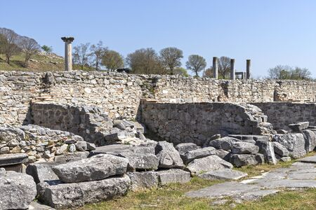 Ancient Ruins at archaeological site of Philippi, Eastern Macedonia and Thrace, Greece 写真素材 - 129436652