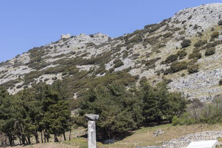 Ancient Ruins at archaeological site of Philippi, Eastern Macedonia and Thrace, Greece 写真素材 - 129436656