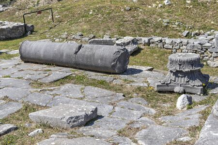 Ancient Ruins at archaeological site of Philippi, Eastern Macedonia and Thrace, Greece 写真素材 - 129436657