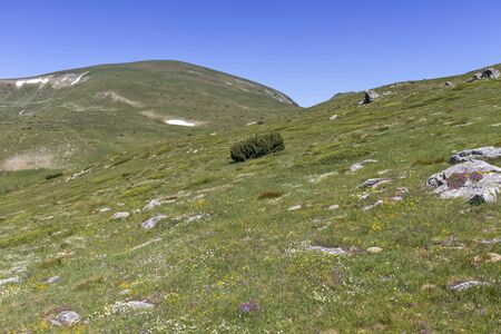 Amazing landscape from hiking trail to Belmeken Peak, Rila mountain, Bulgaria